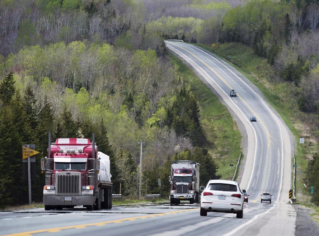 Highway 104, the artery connecting mainland Nova Scotia to Cape Breton Island is seen on Tuesday, May 24, 2016. The environmental assessment of a plan to twin a deadly 38-kilometre stretch of Nova Scotia's Highway 104 has been approved by the province's environment minister. THE CANADIAN PRESS/Andrew Vaughan.