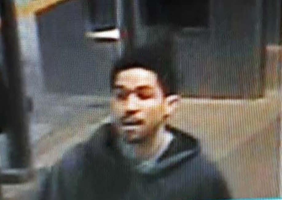Security footage shows Daon Glasgow, later identified as the suspect in the shooting of a Transit Police officer in Surrey on Jan. 30, 2019.