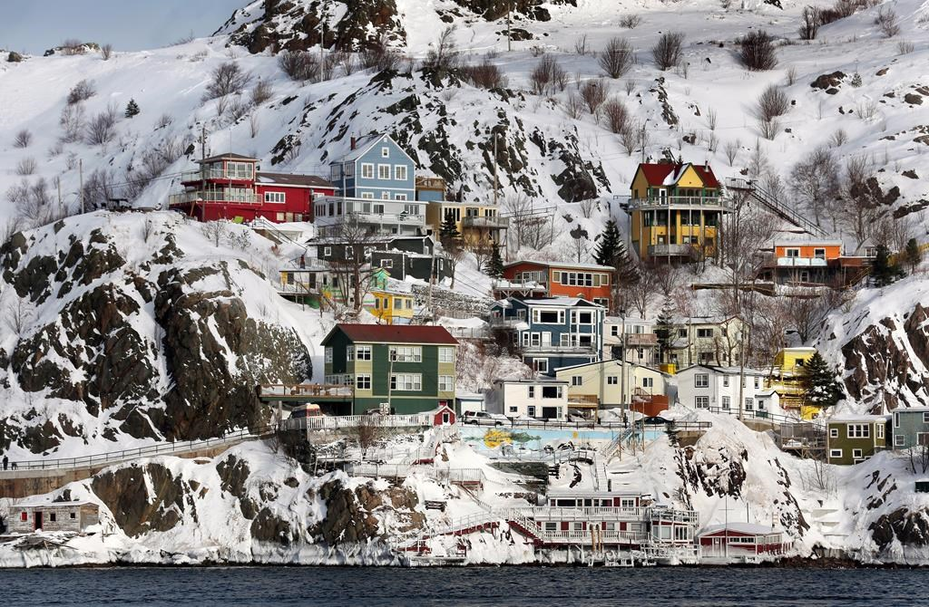 An overall view of the city after a winter storm hit St. John's. N.L., on January 5, 2014. As St. John's, N.L.