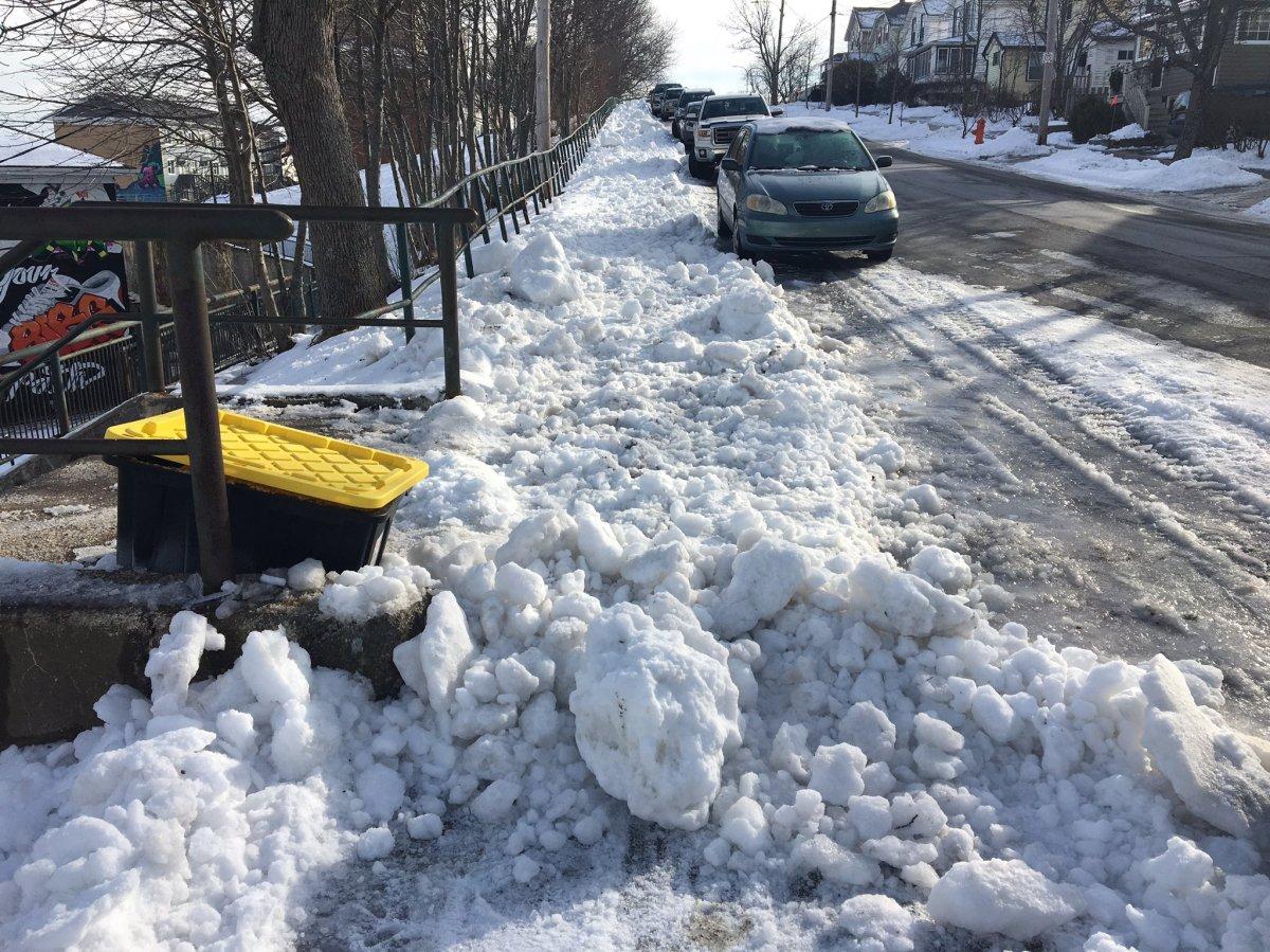 A portion of Albert Street between Duffus Street and Devonshire in Halifax, N.S., on Jan. 3, 2019.