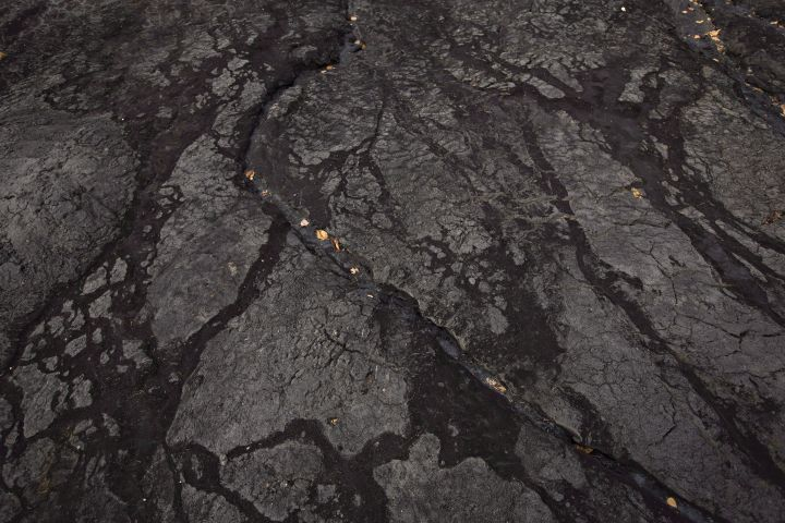 Bitumen in an open mine area is shown at the historic Bitumount oil sands mining, separating and refining facility in Fort McMurray Alta, on Tuesday October 5, 2016.