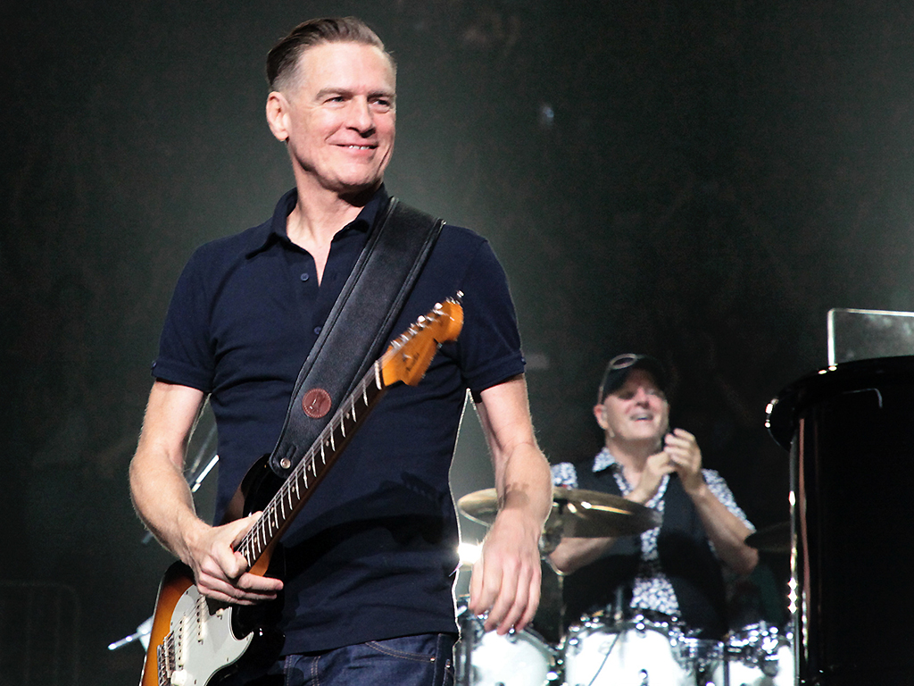 Bryan Adams performs onstage during the 55th consecutive show of Billy Joel's residency at Madison Square Garden on August 23, 2018 in New York City.