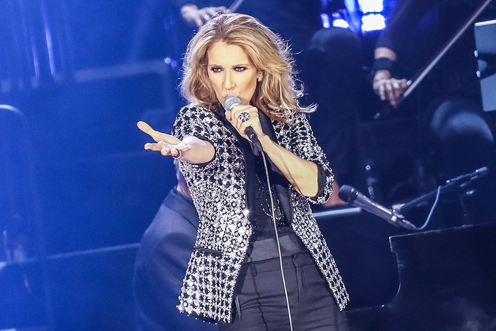 Celine Dion performs at Allianz Riviera Stadium on July 20, 2017, in Nice, France.