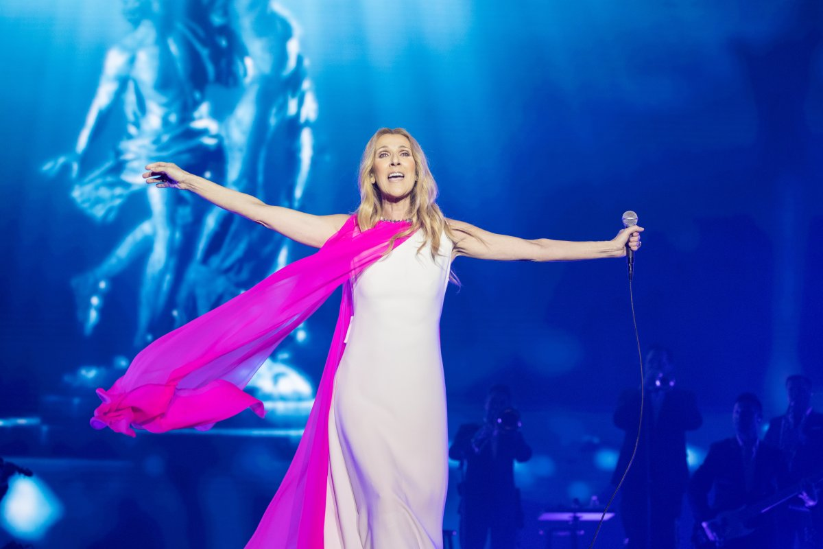 Celine Dion performs on the stage in concert at Cotai Strip Cotai Arena on June 29, 2018.