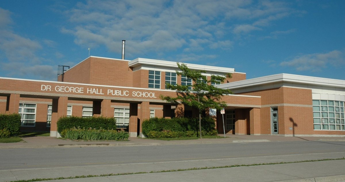OPP are investigating a rash of vandalism at Dr. George Hall Public School in Little Britain.