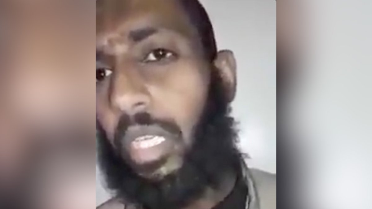 Alleged Canadian ISIS fighter Mohammed Abdullah Mohammed is shown in a video released by Kurdish forces on Jan. 13, 2019.