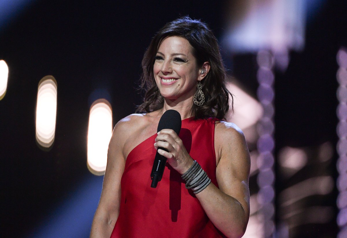 Sarah Mclachlan receives award at the 2017 Juno Awards  at the Canadian Tire Centre on April 2, 2017 in Ottawa.