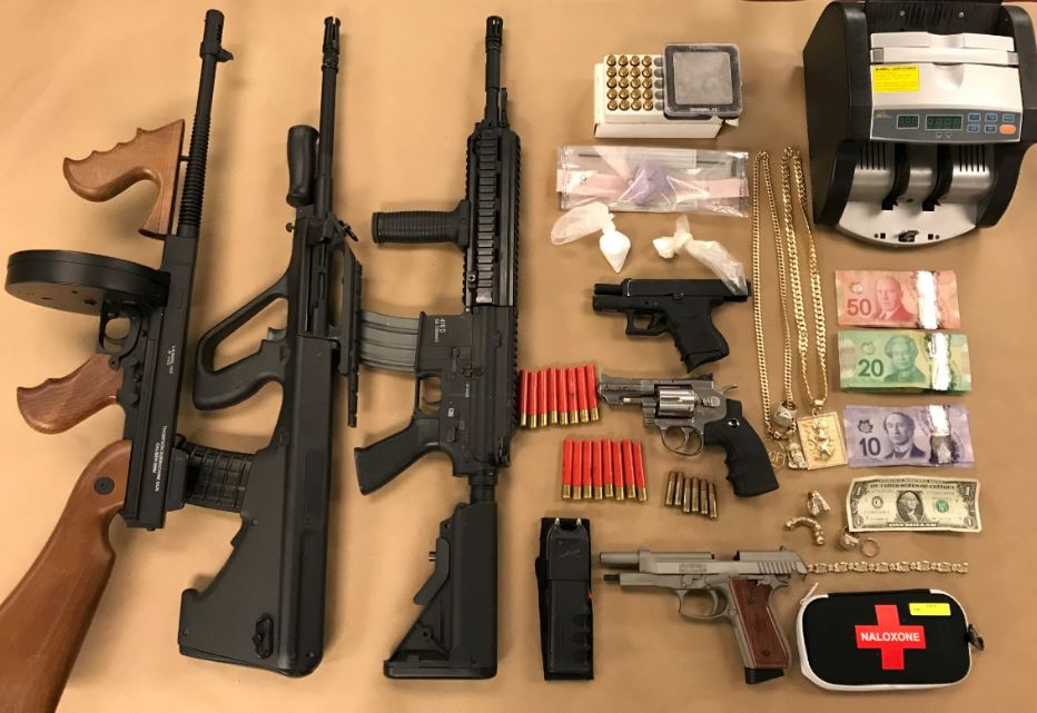 London police seized items including replica firearms, cocaine, and fentanyl.