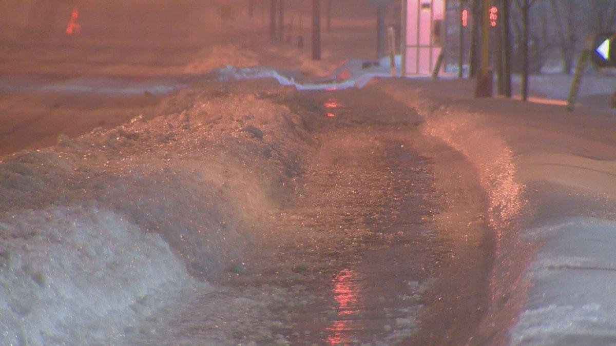 Icy sidewalk on Jan. 24.