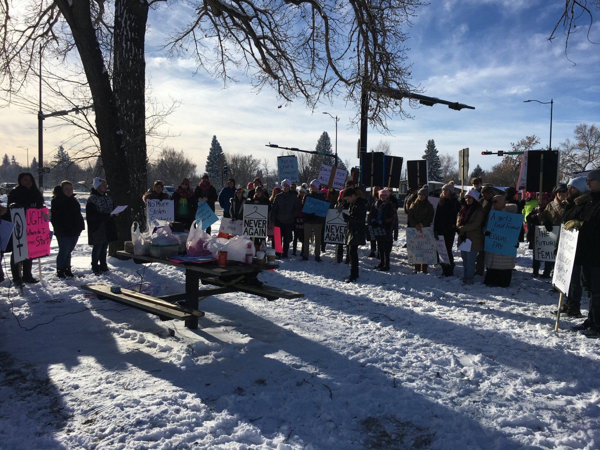 Marchers take to Lethbridge streets to demand action on equality, gender issues - image