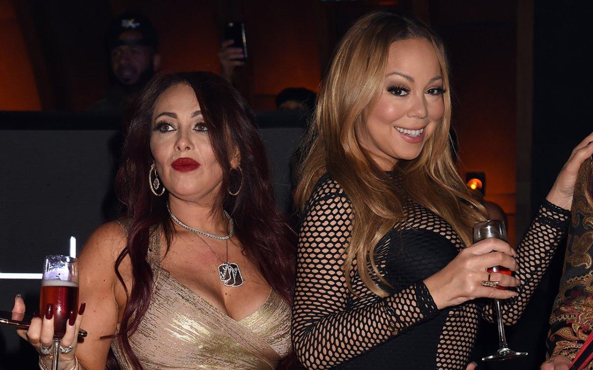 Stella Bulochnikov (L) and Mariah Carey attend Mishka B's Epic Bat Mitzvah at 1OAK on May 6, 2016 in Los Angeles, Calif.