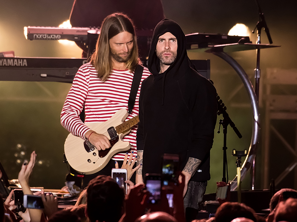 Adam Levine of Maroon 5 performs at The Philadelphia Navy Yard on Nov. 10, 2018, in Philadelphia, Pa.