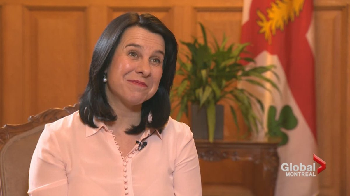 Montreal Mayor Valérie Plante discusses her priorities for the year ahead. Jan. 12, 2019.