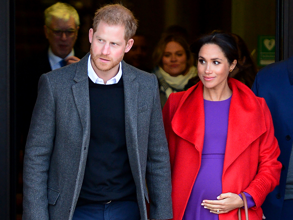 Prince Harry, Duke of Sussex and Meghan Markle, Duchess of Sussex, meet members of the public during a visit of Birkenhead at Hamilton Square on Jan. 14, 2019 in Birkenhead, U.K.