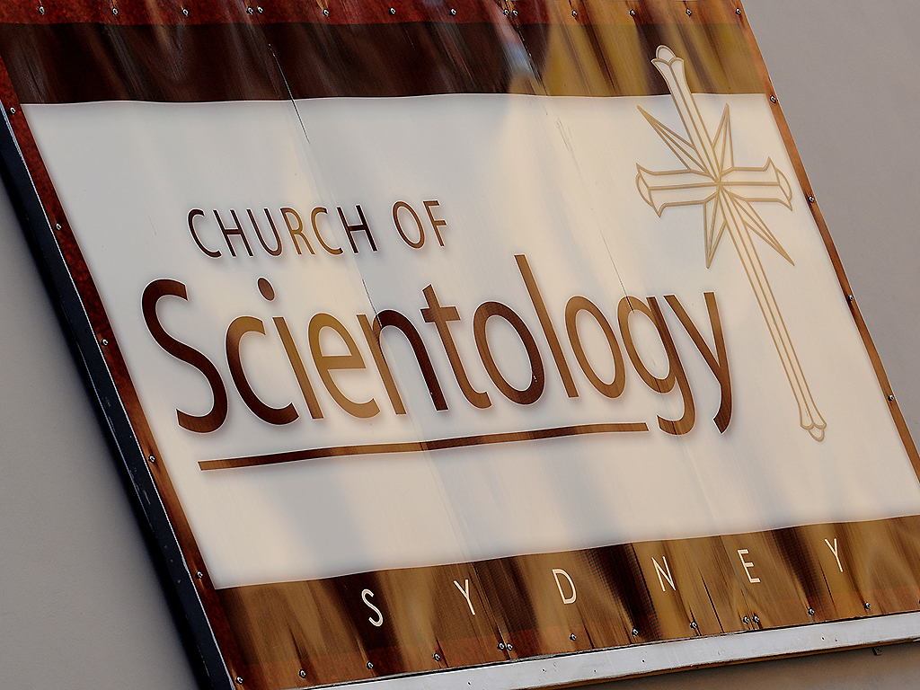 Signage at a Church of Scientology building in the Sydney suburb of Surry Hills is shown on November 18, 2009.