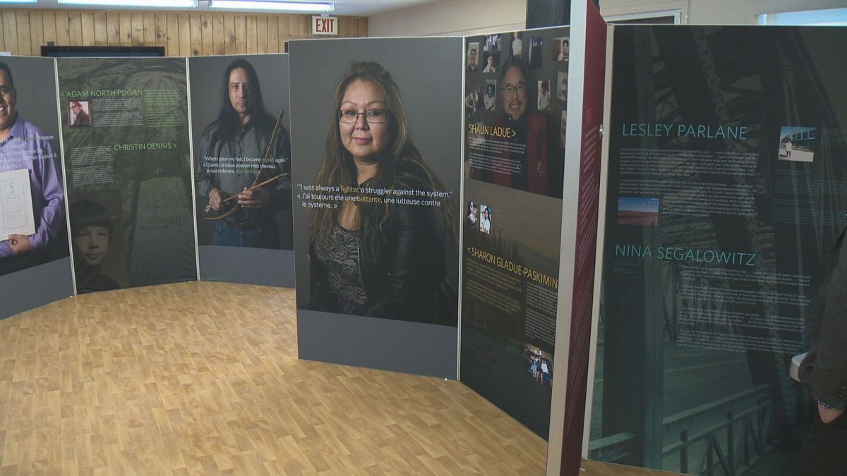 Bi-Giwen: Coming Home- Truth Telling From the Sixties Scoop exhibit .