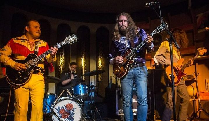 Jimmy Bowskill and Ewan Currie of The Sheepdogs perform at The Peppermint Club on October 12, 2018 in Los Angeles, Calif.