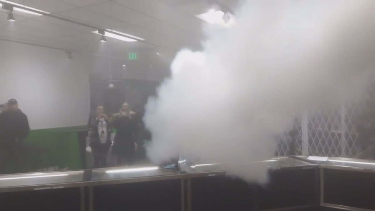A test of smoke security at Alternative Greens in Edmonton in late 2018.