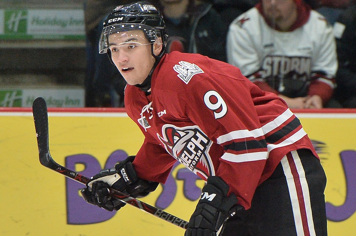 Nick Suzuki of the Guelph Storm been named the OHL's most sportsmanlike player on three occasions.