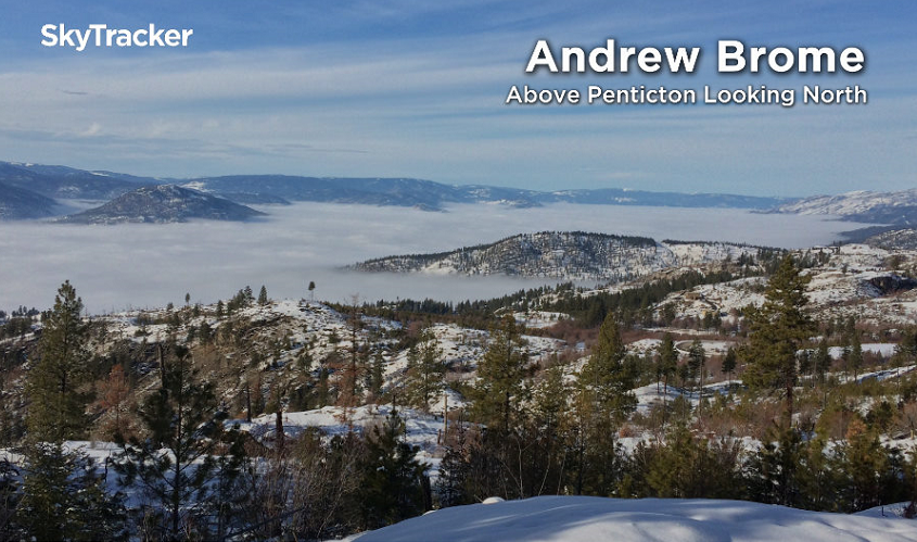 The view above Penticton looking to the north.