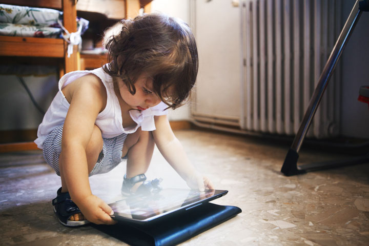 Children who spent more time using screens were less likely to meet developmental milestones, a new study has found.