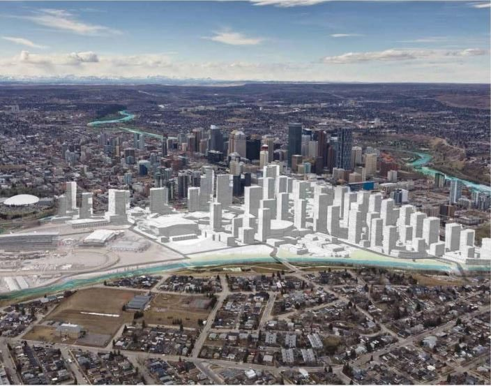 A look at the Victoria Park neighbourhood seen in the Rivers District Master Plan from the Calgary Municipal Land Corporation.