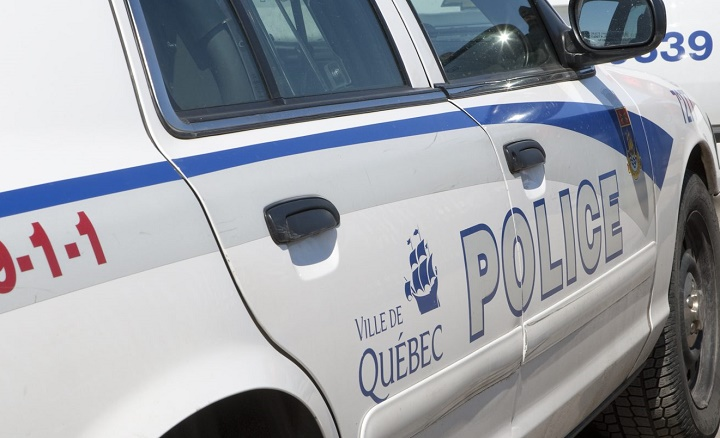 Ville de Quebec city police logo is seen on a police car Friday April 8, 2011. The Canadian Press Images/.