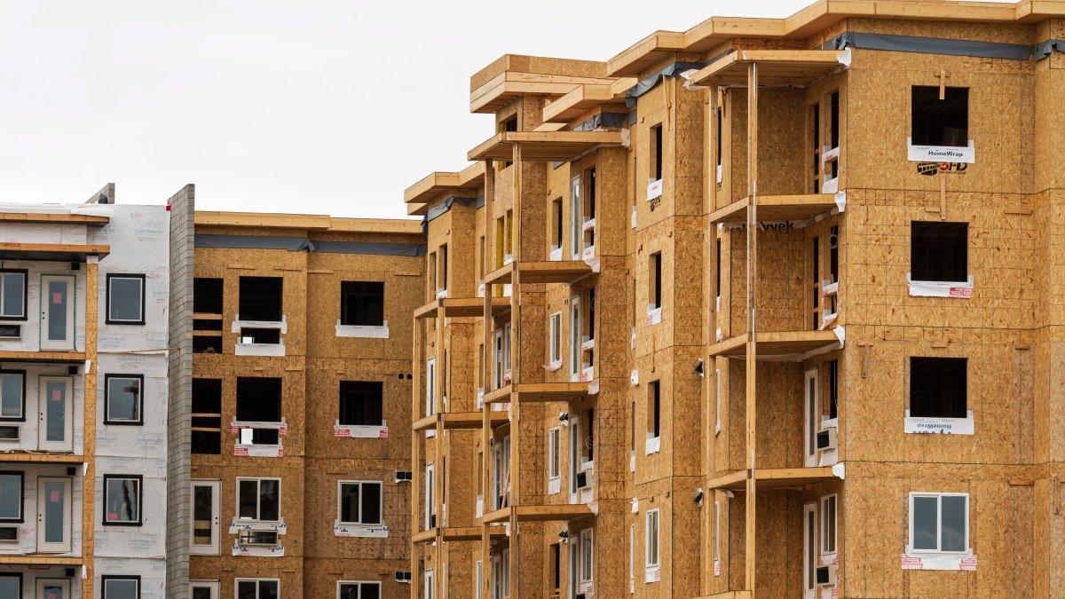 New condominium units under construction, Calgary, Alberta on Wednesday, September 12, 2018.