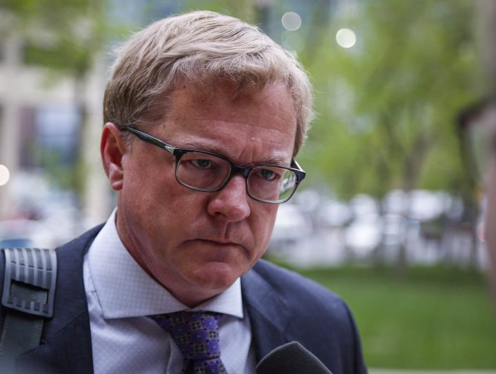 Alberta Education Minister David Eggen arrives for a cabinet meeting in Calgary, Alta., Thursday, May 28, 2015.
