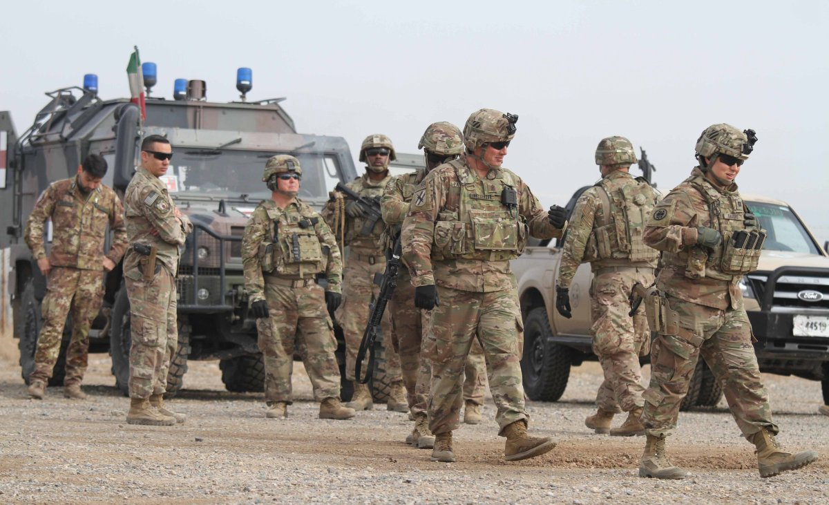 FILE - US soldiers attend a training session for the Afghan Army in Herat, Afghanistan, 02 February 2019 (issued 03 February 2019).