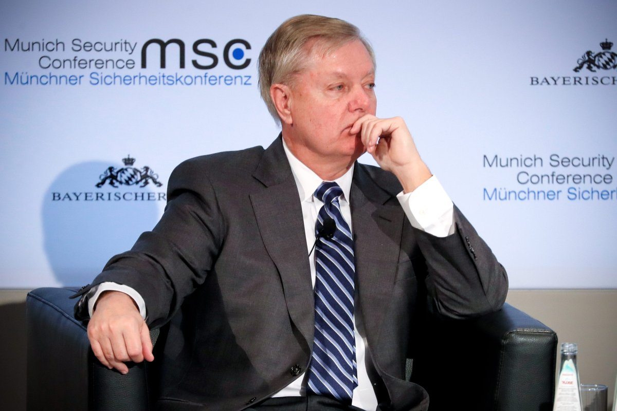 US Republican Senator of South Carolina Lindsey Graham attends the 55th Munich Security Conference (MSC) in Munich, Germany, 15 February 2019.