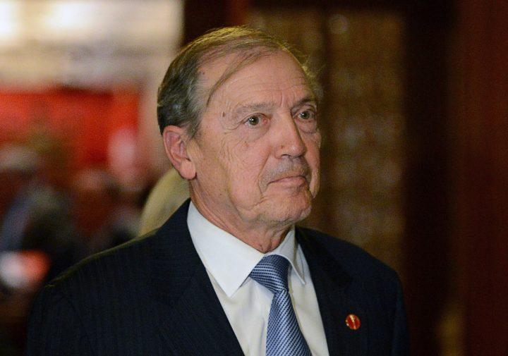 Sen. David Tkachuk leaves the Senate on Parliament Hill in Ottawa on Tuesday, Oct. 22, 2013.