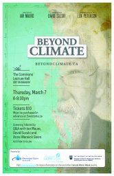Continue reading: Beyond Climate Film Screening and Q & A