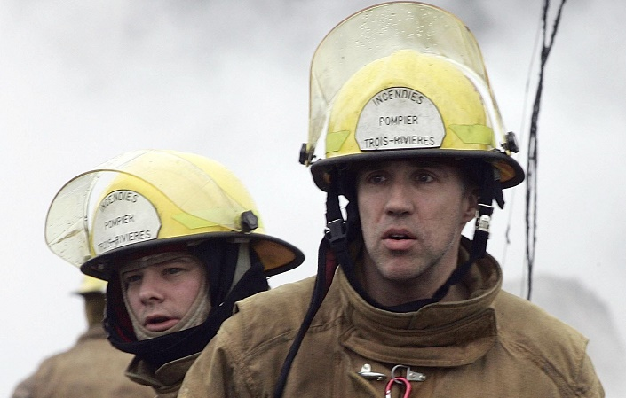 A file photo of firefighters in Trois-Rivières.