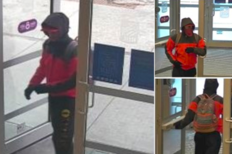 Waterloo Regional Police have released photos of a suspect in a Waterloo bank robbery.