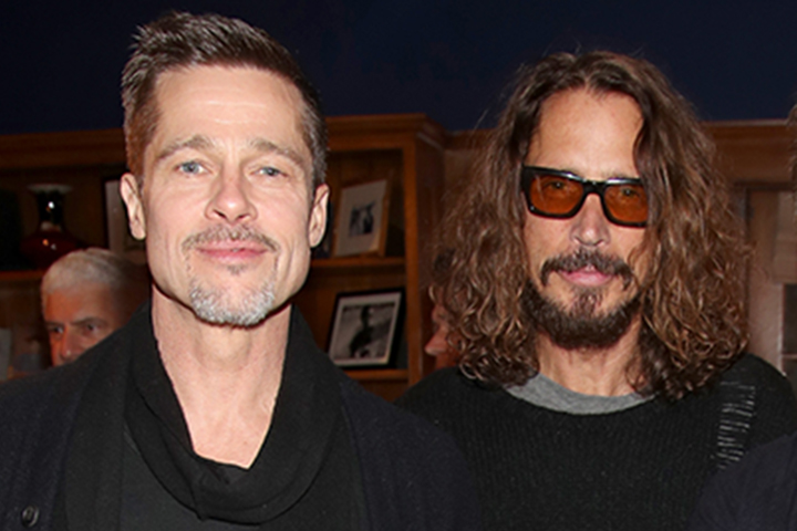 (L-R) Brad Pitt and Chris Cornell.