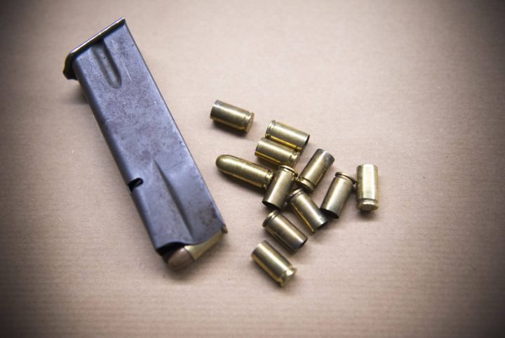 Bullet evidence stock photo.