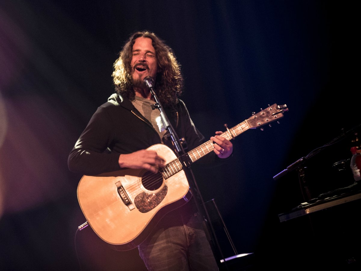 Chris Cornell performing live.