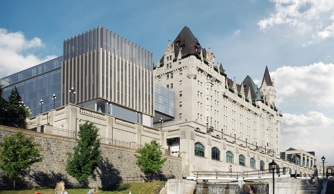 ***THIS IS AN OLD RENDERING***The architects behind the design of the new addition to the Château Laurier released their updated design on Monday.