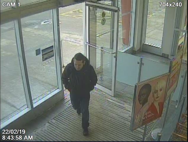 Napanee OPP have released security images of this man, who they claim stole hundreds of dollars of cologne from an Amherstview store.