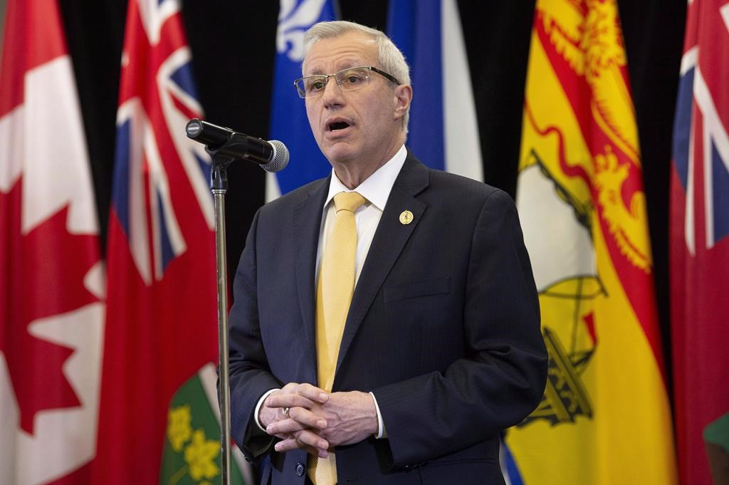 Ontario Finance Minister Vic Fedeli speaks with media following meetings with federal, provincial and territorial counterparts in Ottawa, Monday December 10, 2018.