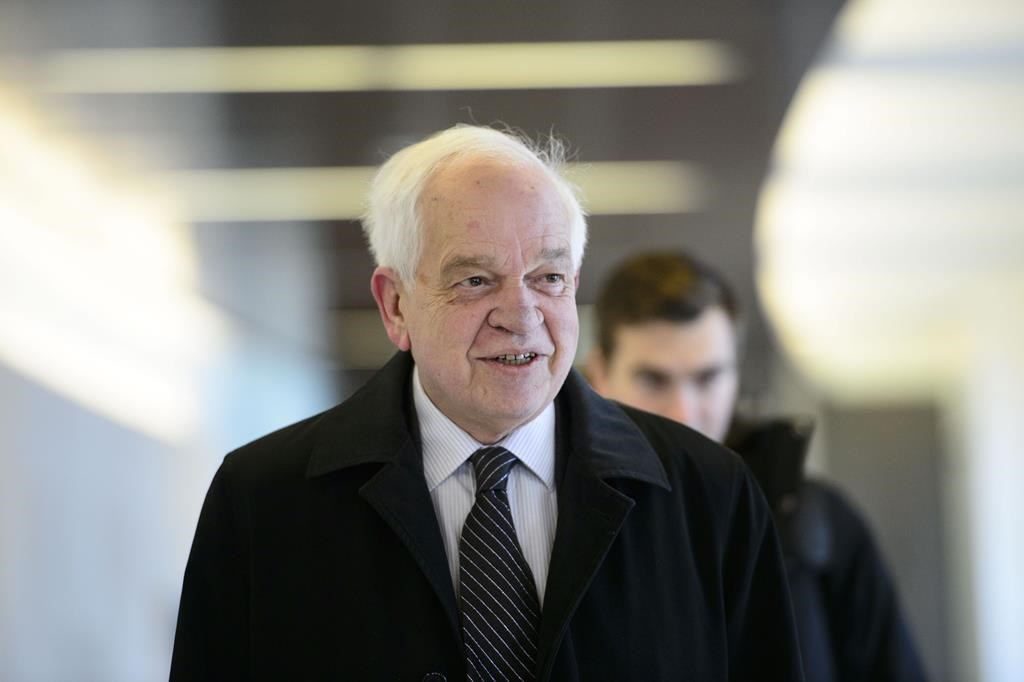 Canada's ambassador to China John McCallum arrives to brief members of the Foreign Affairs committee regarding China in Ottawa on January 18, 2019.