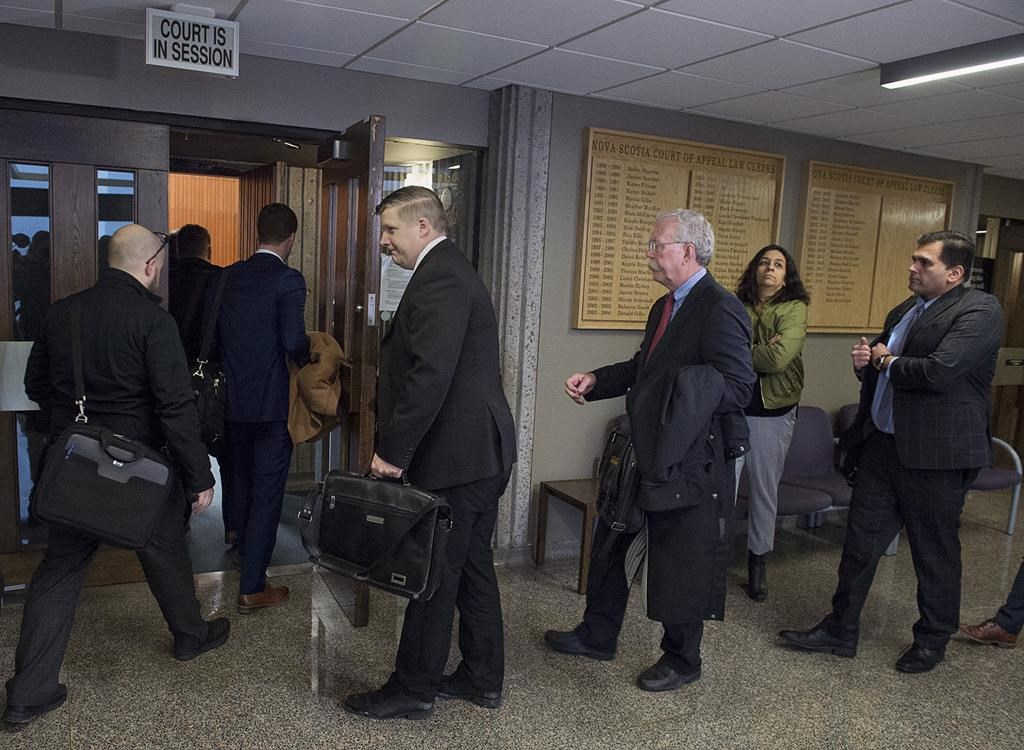 Interested parties attend Nova Scotia Supreme Court as Canada's largest cryptocurrency exchange seeks creditor protection in the wake of the sudden death of its founder and chief executive in December and missing cryptocurrency worth roughly $190-million, in Halifax on Tuesday, Feb. 5, 2019.