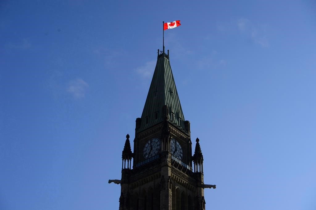 The Peace Tower on Parliament Hill in Ottawa on May 29, 2018. THE CANADIAN PRESS/Sean Kilpatrick.