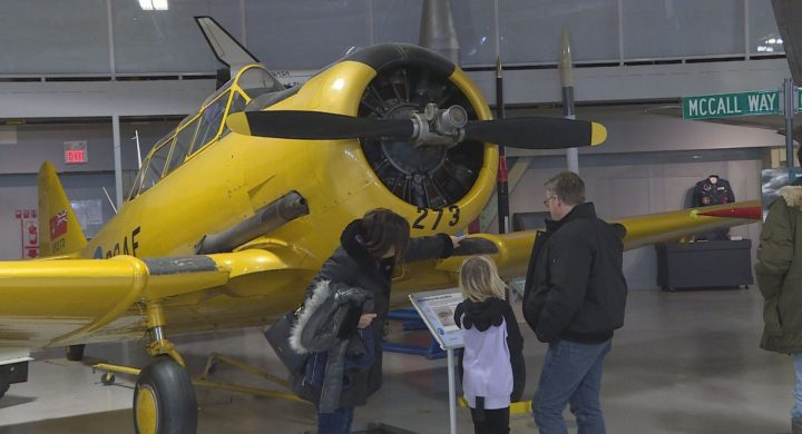 Calgarians flocked to the city's Hangar Flight Museum to mark National Aviation Day.