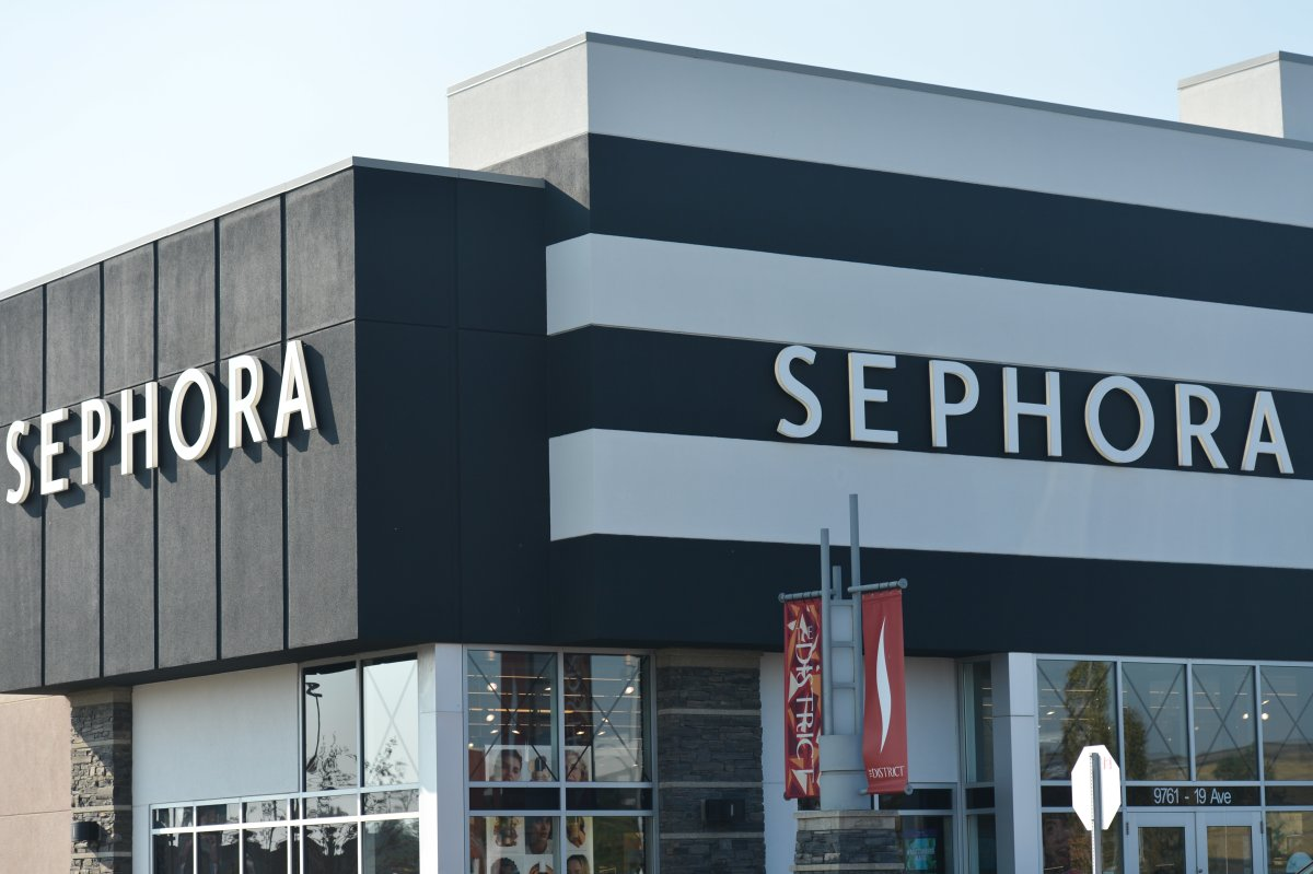 A Sephora shop in Edmonton is shown in a file photo.