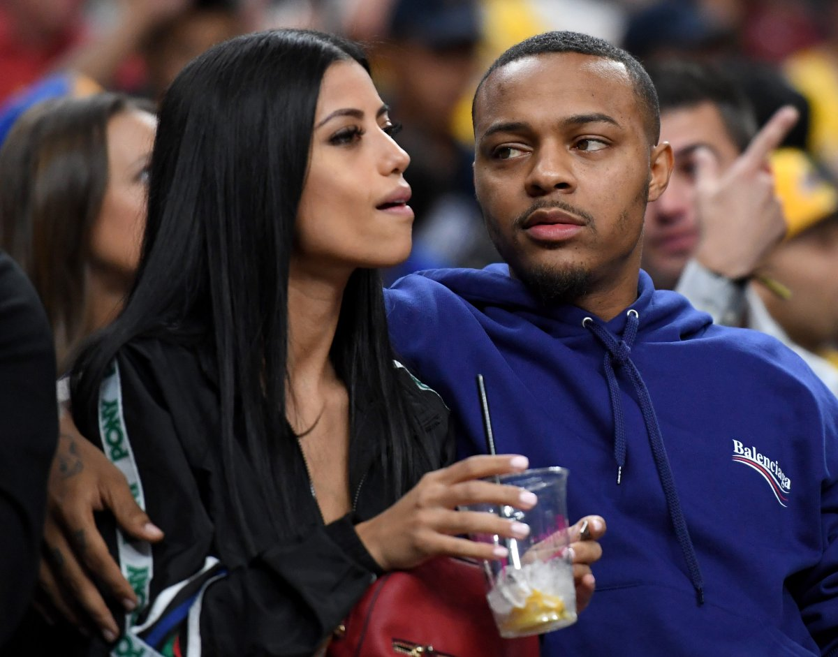 """Rapper Shad """"Bow Wow"""" Moss (R) and Leslie Holden."""