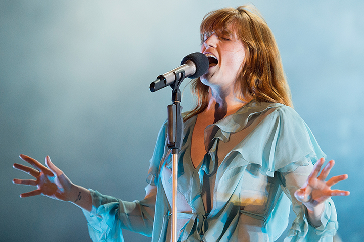 Florence Welch of Florence + The Machine performs on May 22, 2016 in Gulf Shores, Ala.