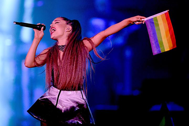 Ariana Grande performs onstage during the 2018 iHeartRadio Wango Tango.