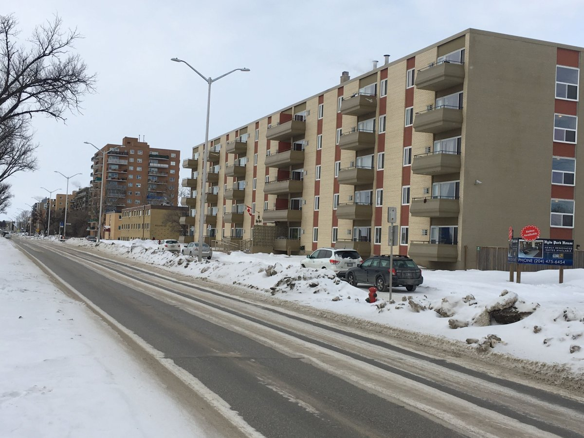 An apartment complex on the 1000 of Grant Avenue.